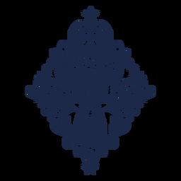 Arte floral de veado silhueta floral