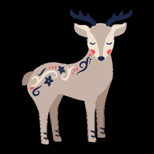 Adorno de arte popular de ciervos