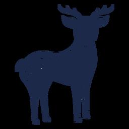 Silhueta de ornamento de arte folclórica de veado