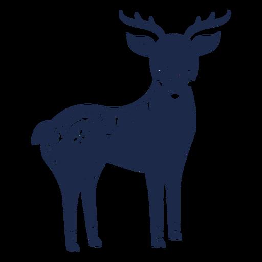 Silueta de ornamento de arte popular de ciervo