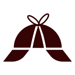 Deerstalker cap silhouette