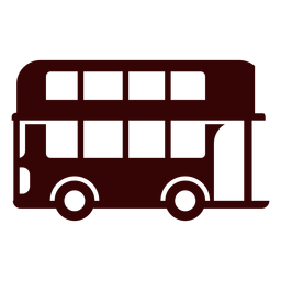 Double decker bus silhouette