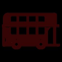 Silueta de autobús de dos pisos