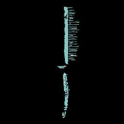 Peine de doble cara dibujado a mano
