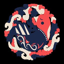 Elemento de arte popular de pássaro pomba