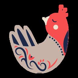 Ornamento da arte popular do pássaro da pomba