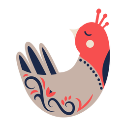 Paloma pájaro adorno de arte popular