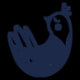 Dove folk art ornament silhouette