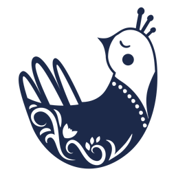 Silueta de adorno de arte popular de paloma