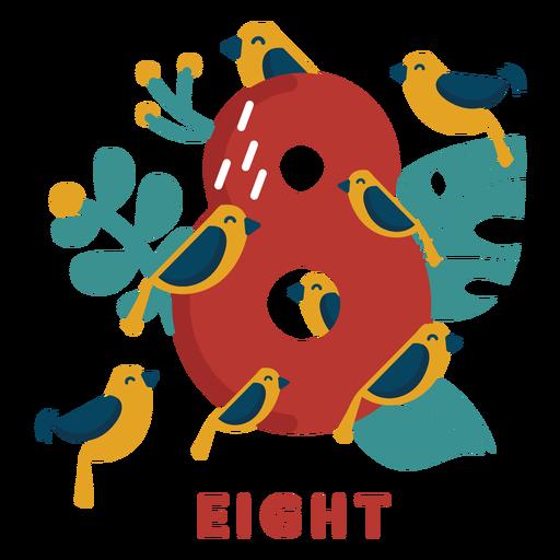 Eight birds number