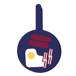 English breakfast pan icon