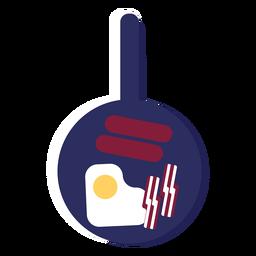 Icono de bandeja de desayuno inglés