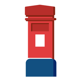 English post box icon