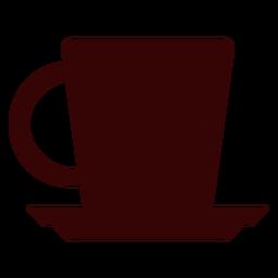 Silueta de taza de té inglés