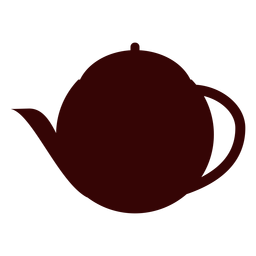 English tea pot silhouette