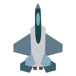 F 15 aircraft top view icon