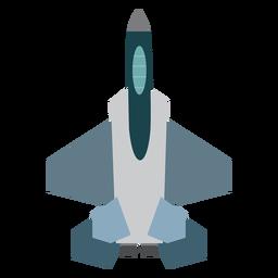 Icono de vista superior del avión F 15