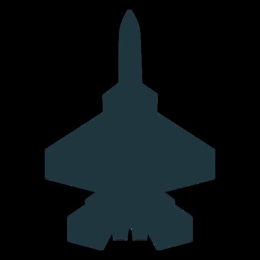 Silueta de vista superior de aviones F 15