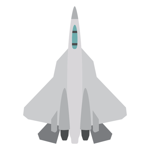 F 22 aircraft top view icon