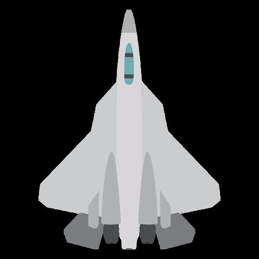 Icono de vista superior del avión F 22