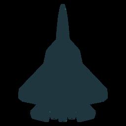 Silhueta de vista superior de aeronaves F 22