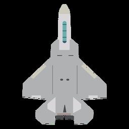 Icono de vista superior del avión F 35