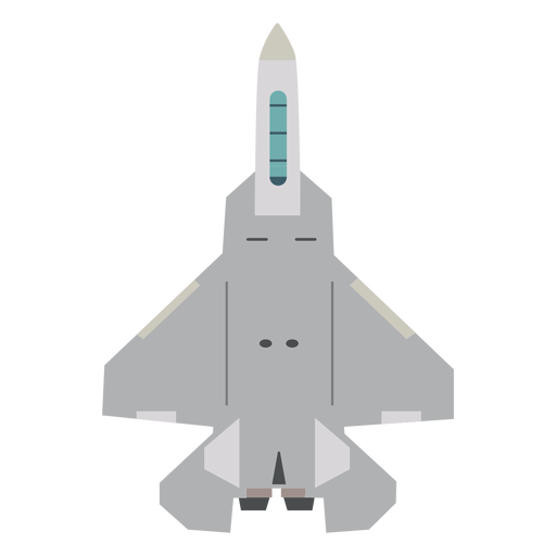 F 35 aircraft top view icon