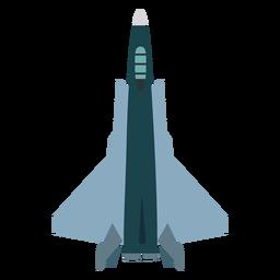 Kampfjet Flugzeug Symbol