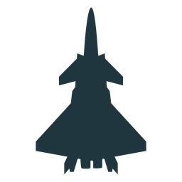 Fighter jet aircraft silhouette