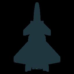 Silueta de avión de combate