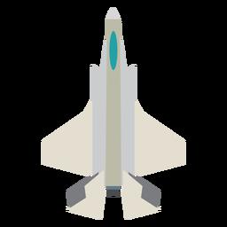 Icono de vista superior de avión de combate