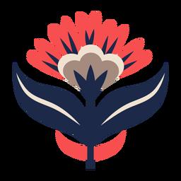 Adorno floral de arte popular