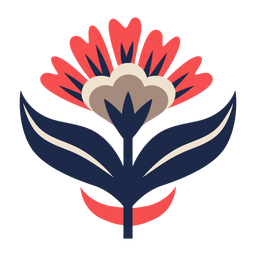 Ornamento floral da arte popular