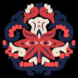 Adorno floral patrón popular
