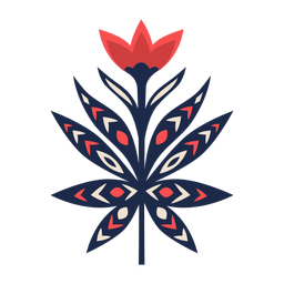 Adorno floral de arte folclórico