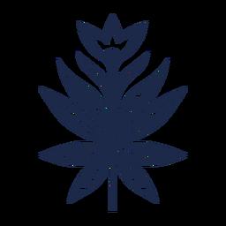 Silueta de adorno de arte folclórico floral