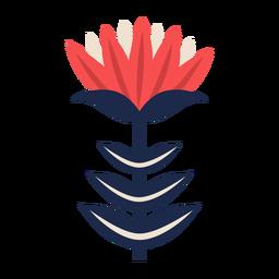 Adorno floral de arte scandi