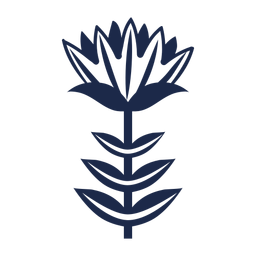 Floral Scandi Kunst Ornament Silhouette