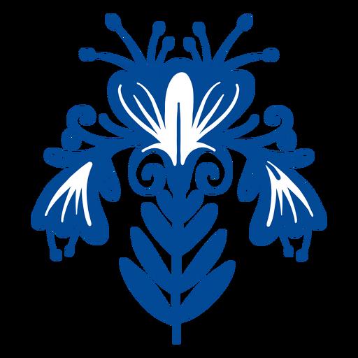 Flor de arte popular escandinavo