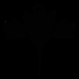 Silueta de arte popular de flores escandinavas