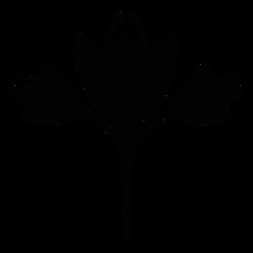 Scandinavian flowers folk art silhouette Transparent PNG