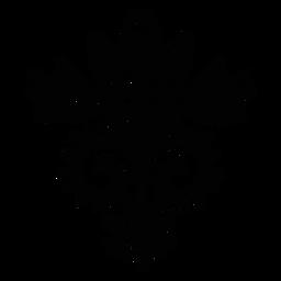 Escandinavo flores folk arte preto