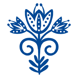 Arte escandinava folk arte azul