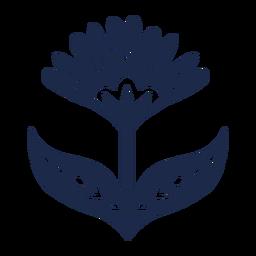 Blumen Scandi Kunst Ornament Silhouette
