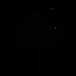 Scandinavian folk art flower black