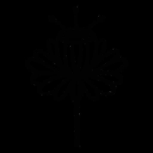 Arte popular escandinavo flor negro