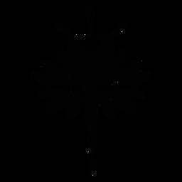 Flor escandinava floral da arte popular