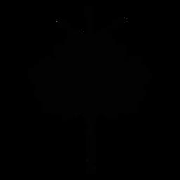 Arte popular escandinavo de flor negra