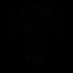 Flower scandinavian ornament flat