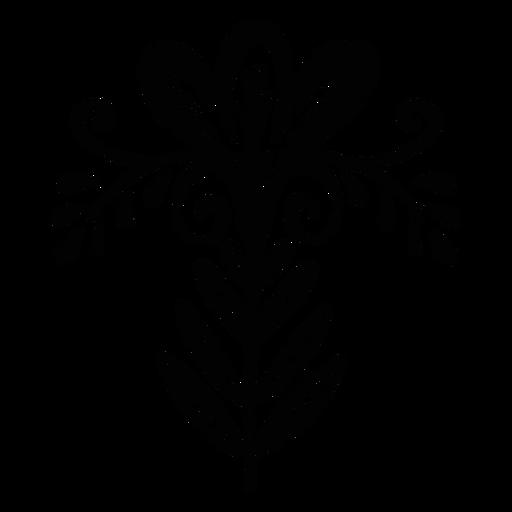 Flor escandinava ornamento plano